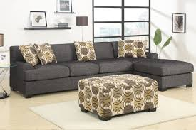 verona sectional sofa set in faux linen finish f744567 48950