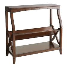 pier one home decor bookseller low shelf mahogany brown pier 1 imports home