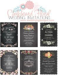 chalkboard wedding invitations chalkboard floral wedding invitations wedding invitations the