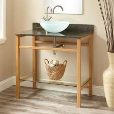 Open Bathroom Vanity by Wood Open Shelf Vanity Signature Hardware