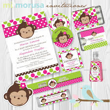 monkey invitations baby shower mi morusa arte digital kit baby shower changuita fiestas