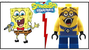 spongebob characters as lego spongebob lego version 2017 youtube