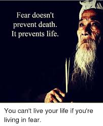 Fear Meme - fear doesn t prevent death it prevents life you can t live your life