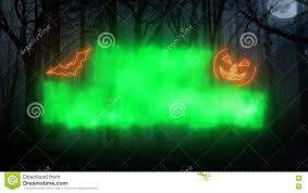 happy halloween loop animation forest background stock video