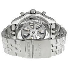breitling bentley b05 unitime chronograph white dial stainless