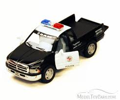 police car toy dodge ram police pick up black kinsmart 5018dp 1 44 scale