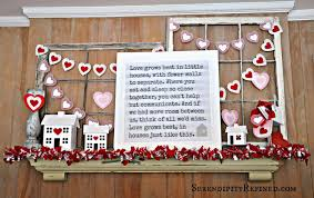 Little Houses Song Serendipity Refined Blog Diy Repurposed Valentine U0027s Day Mantel Decor