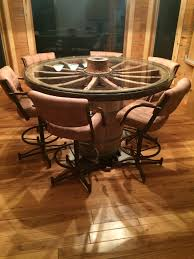 Whiskey Barrel Kitchen Table Wagon Wheel Dining Table My House Pinterest Wagon Wheels