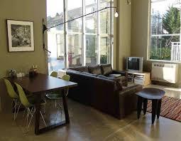 living room dining room combo decorating ideas l shaped ivory covered vinyl sofa drum white aluminium table l