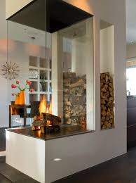 clear glass panel for contemporary fireplace and fireplace wood