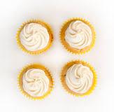 Vanille Cupcakes Stock Foto Afbeelding Bestaande Uit Cupcakes