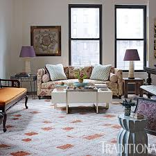 new york city loft with bold pattern traditional home