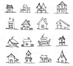 house to draw cute house draw vector line eps10 stock vector art more images