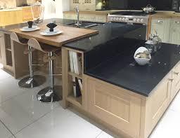 kitchen island worktops uk contemporary kitchen island design in lissa oak with split level