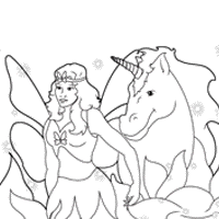 coloring pages of unicorns and fairies unicorn coloring pages surfnetkids