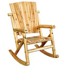 leigh country aspen wood outdoor rocking chair