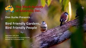 bird friendly gardens bird friendly people don burke youtube