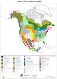 North America Forest Map by Bird Conservation Regions Atlantic Coast Joint Venture