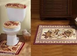 bathroom accessories bathroom rug sets country primitive Bathroom Rugs And Accessories