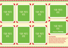 christmas photo collage template free vector download 338093