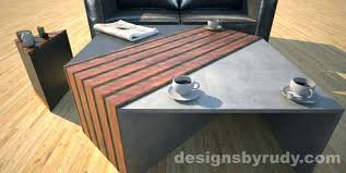 concrete and wood coffee table concrete and wood coffee table macky co