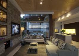 sofas rug stone wall fireplace waterfront home in vaucluse sydney