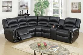 Black Leather Recliner Sf3591 Black Leather Recliner Sectional