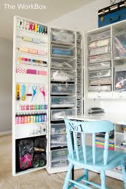 craft cabinet with fold out table pleasurable crafting desk with storage scrapbook craft room tour