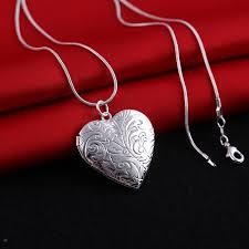 necklace pendant wholesale images Wholesale 925 sterling silver locket heart photo pendant necklace jpg