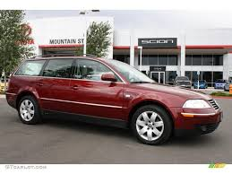 red volkswagen passat 2003 colorado red pearl volkswagen passat glx 4motion wagon
