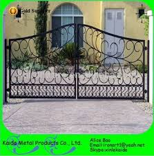 modern handmande ornamental wrought iron gate steel gate for house