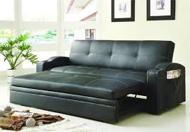 Futon Or Sleeper Sofa Click Clack Black Futon With Pull Out Bed Novak Collection Style
