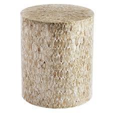 accent table sale capiz round drum accent table pier 1 imports