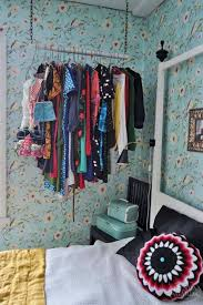 storage ideas for small spaces hanging clothes rack good storage