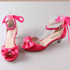 wedding shoes pink fashion hot pink med low heel sandals d orsay heels