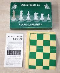 Interesting Chess Sets Vintage Gallant Knight Mottled Travel Plastic Chess Set