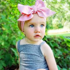 baby headwrap diy fashion kid child baby wrap top knot solid bow vintage