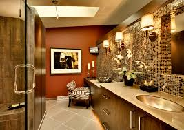 animal print bathroom ideas bathroom luxurious brown themed contemporary bathroom plan