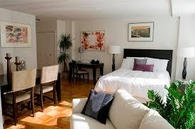 beautiful studio apartment design ideas with bookcase room divider