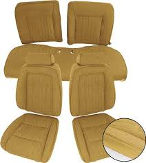Tmi Upholstery Vw Mustang Sport Seat Upholstery Sand Beige Cloth 87 89 Convertible