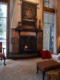 home decor creative copper fireplace decoration idea luxury