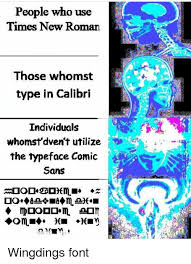 Meme Font Type - people who use times new roman those whomst type in calibri