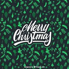 merry christmas background with green elements vector free download