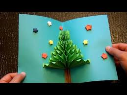How To Make Paper Christmas Decorations At Home Diy 3d Christmas Pop Up Card Very Easy How To Make Tcraft
