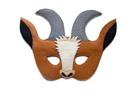 goat head halloween mask brown goat mask farm animal costume felt mask toddler goat
