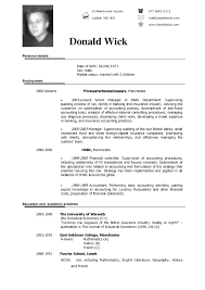 Resume In English Free Example Of A Resume Free Resume Example And Writing Download