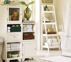 bathroom inspiring small bathroom storage ideas use ladder inspiring small bathroom storage ideas use ladder shelves with white curtain tub also anti slip floor mat