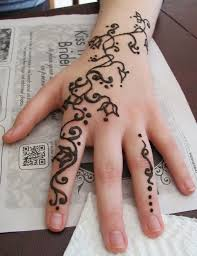 fingers design symbol henna gallery