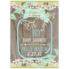 baby boy baby shower invitations floral lace jar oh boy baby shower invites paperstyle
