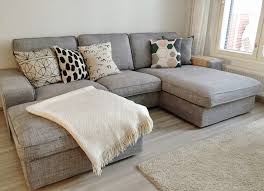 living room trellis sectional sofa artwork pillows ottoman